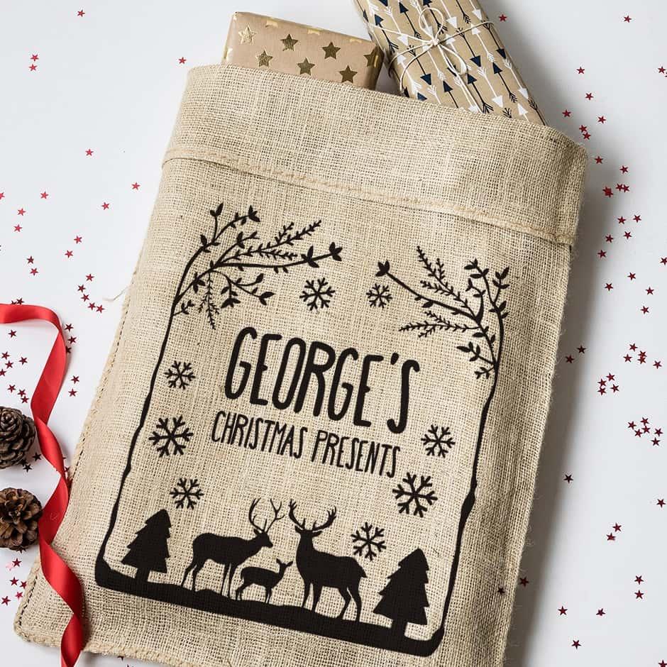 Personalised Christmas Present Sacks