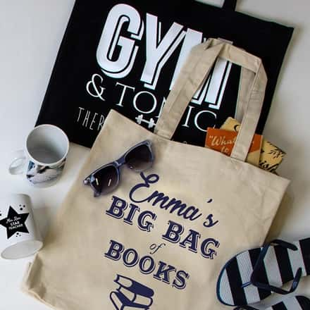 Personalised Christmas Tote Bags