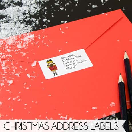 Personalised Christmas Address Labels